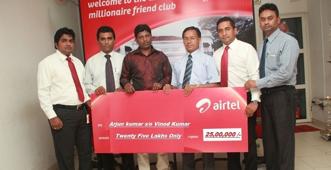 Airtel Lottery Winners 2020